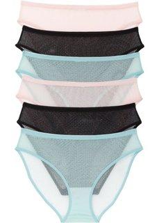 Трусики (6 шт.) (розовый/нежно-голубой/черный) Bonprix