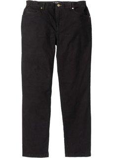 Прямые брюки Regular Fit с удобным поясом, cредний рост (N) (черный) Bonprix