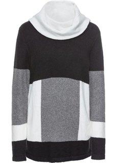 Пуловер + шарф-снуд (2 изд.) (черный/различные расцветки) Bonprix