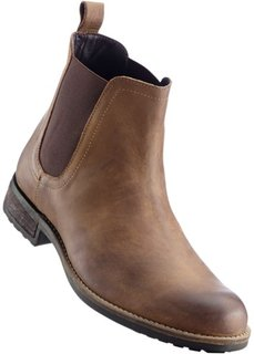 Кожаные ботинки (коньячный) Bonprix