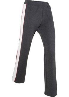 Длинные трикотажные брюки-палаццо (шиферно-серый меланж) Bonprix
