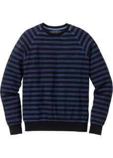 Свитшот Slim Fit (темно-синий/черный в полоску) Bonprix