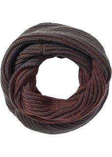 Двухцветный шарф-снуд в рубчик (красный каштан/серый) Bonprix