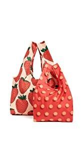 BAGGU Strawberry Bag Set