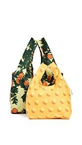 BAGGU Orange Tree Bag Set
