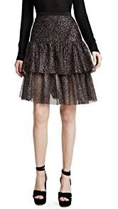 Rodarte Sparkle Two Tier Ruffle Skirt