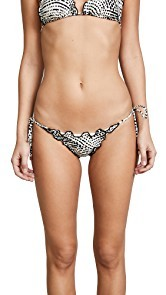 ViX Swimwear Black Ripple Tie Side Bikini Bottoms