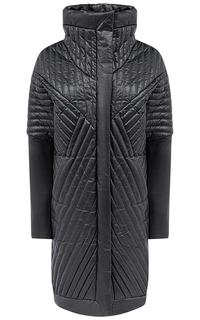 Кожаное пальто на натуральном пуху La Reine Blanche