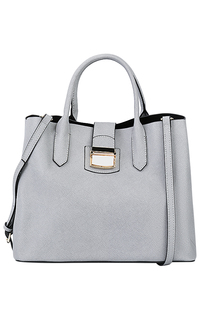 Серая кожаная сумка La Reine Blanche