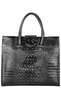Кожаная сумка с тиснением La Reine Blanche