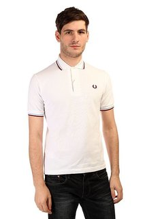 Поло Fred Perry Twin Tipped Shirt White