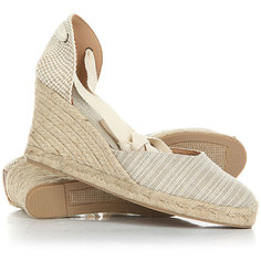 Сандалии женские Soludos Printed Tall Wedge Natural