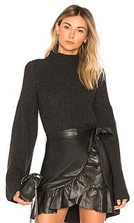 Кроп-топ с расклешенными рукавами cropped mock - Autumn Cashmere