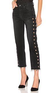 Укороченные прямые джинсы с высокой посадкой helena - GRLFRND