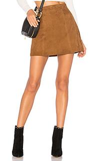 Замшевая мини юбка flore - Muubaa