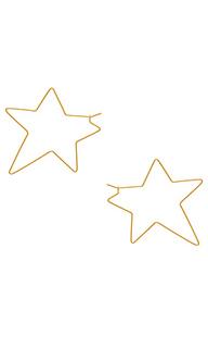 Серьги-кольца super star - Rebecca Minkoff