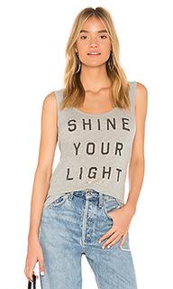 Майка с широким вырезом сзади shine your light - Spiritual Gangster