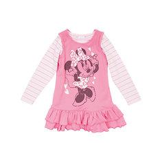 Комплект для девочки: футболка с длинным рукавом и сарафан Минни Маус Play Today
