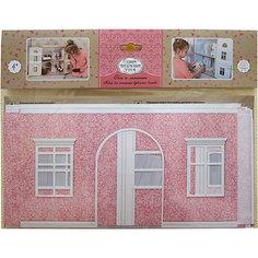 """Набор для интерьера кукольного домика """"Обои и ламинат"""", розовый ЯиГрушка"""