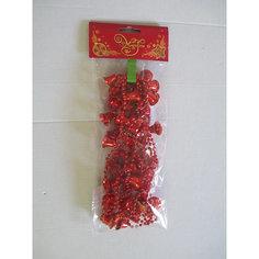 Новогодняя гирлянда Красные колокольчики из полистирола, 76095 Magic Time