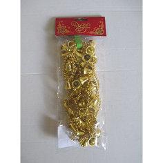 Новогодняя гирлянда Золотые колокольчики из полистирола, 76097 Magic Time