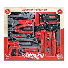 """Игровой набор Abtoys """"Помогаю папе"""" Набор инструментов, 30 предметов"""