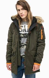 Утепленная куртка с капюшоном Superdry