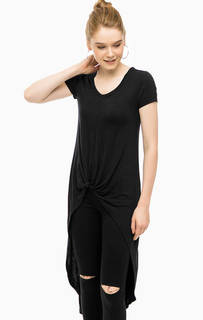 Черная туника-футболка из вискозы Alcott