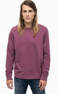Фиолетовый свитшот из хлопка Alcott