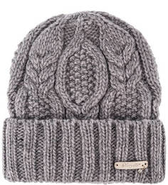 Сиреневая вязаная шапка Noryalli