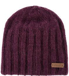 Фиолетовая вязаная шапка Noryalli