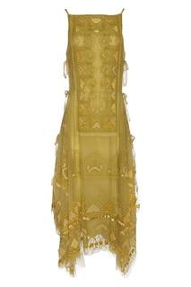 Платье с вышивкой бисером Valentino