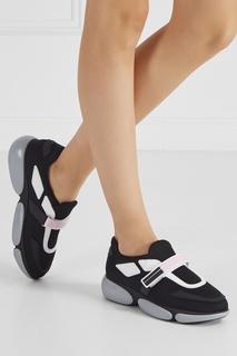 Черные кроссовки из текстиля Cluodbust Prada