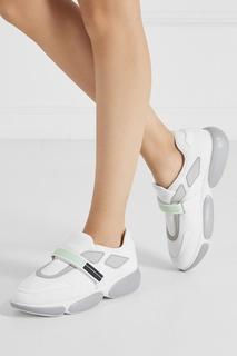 Белые кроссовки из текстиля Cluodbust Prada