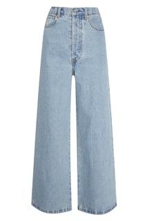 Голубые выбеленные джинсы Solace