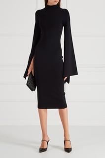 Черное трикотажное платье Solace