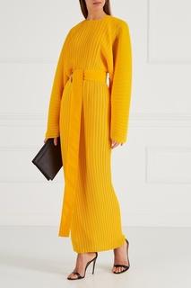Желтое плиссированное платье Solace