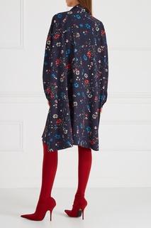 Платье с завязками на воротнике Balenciaga