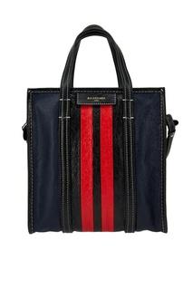 Кожаная сумка с полосками Bazar Shopper S Balenciaga