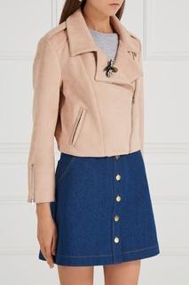 Бежевая куртка на молнии T Skirt