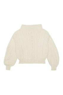 Шерстяной свитер с косами T Skirt