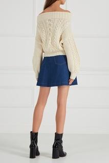 Джинсовая юбка-мини на пуговицах T Skirt
