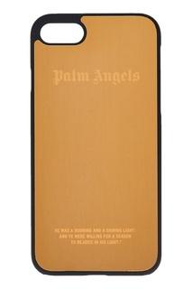 Золотистый чехол для iPhone 7 Palm Angels