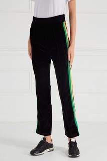 Бархатные брюки с лампасами Palm Angels