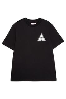 Хлопковая футболка с эмблемами Palm Angels