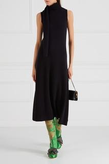Зеленые сапоги из сатина с вышивкой Gucci