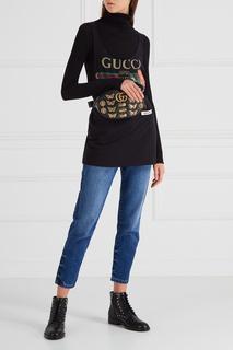 Хлопковый топ с логотипом Gucci