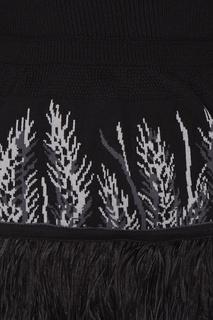 Вязаное платье с баской 7КА