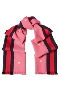 Розовый шарф из шерсти и кашемира Gucci