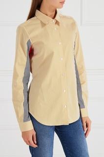 Желтая рубашка в полоску Aalto
